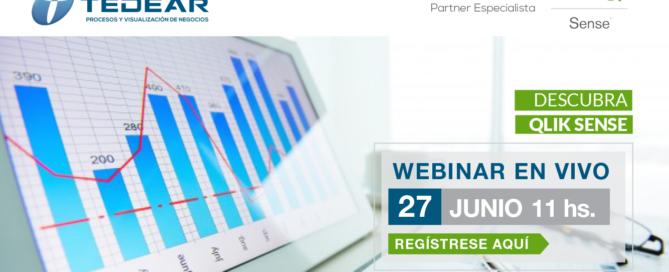 Participe del Webinar en vivo. Descubra Qlik Sense